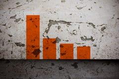 Grafico sulla parete invecchiata della pittura Fotografia Stock Libera da Diritti