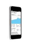 Grafico sullo smartphone Immagine Stock Libera da Diritti