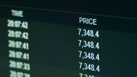 Grafico in tensione sullo scambio Bitcoin di Internet al dollaro Valuta cripto commerciale stock footage