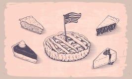 Grafico a torta americano Immagini Stock Libere da Diritti
