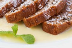 Grafico a torta caldo della carota Fotografia Stock Libera da Diritti