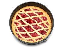 Grafico a torta casalingo immagini stock