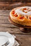 Grafico a torta casalingo dell'albicocca fotografia stock libera da diritti