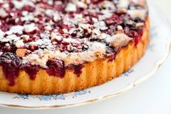 Grafico a torta casalingo della ciliegia Fotografia Stock