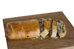 Grafico a torta con carne e formaggio Fotografia Stock