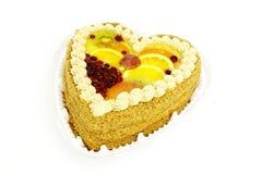 Grafico a torta con frutta Immagine Stock