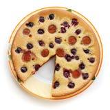 Grafico a torta con la ciliegia e l'albicocca Immagine Stock Libera da Diritti