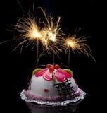 Grafico a torta con le candele burning. Fotografie Stock Libere da Diritti