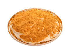 Grafico a torta crema casalingo del cracker di Graham Fotografie Stock
