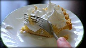 Grafico a torta crema della banana Fotografia Stock Libera da Diritti