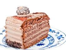 Grafico a torta del cioccolato Fotografie Stock Libere da Diritti