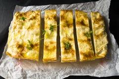 Grafico a torta del formaggio Fotografia Stock