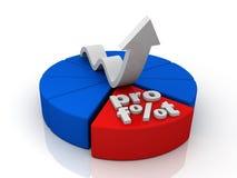 Grafico a torta del grafico illustrazione di stock