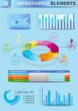 Grafico a torta del grafico del modello di presentazione di INFOGRAPHIC Fotografie Stock Libere da Diritti