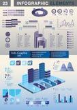 Grafico a torta del grafico del modello di presentazione di INFOGRAPHIC Fotografie Stock