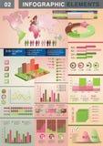 Grafico a torta del grafico del modello di presentazione di INFOGRAPHIC Fotografia Stock