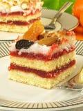 Grafico a torta del lampone, primo piano Fotografie Stock