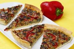 Grafico a torta del pepe rosso e della barbabietola cotta Immagini Stock