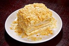 Grafico a torta del soffio con una crema cremosa Immagine Stock Libera da Diritti