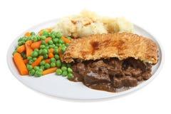 Grafico a torta della bistecca & purè di patate immagini stock