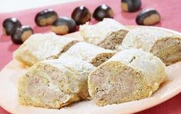 Grafico a torta della castagna dolce Fotografia Stock
