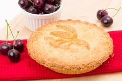 Grafico a torta della ciliegia Fotografia Stock