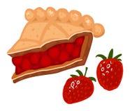 Grafico a torta della fragola Fotografie Stock