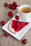 Grafico a torta della fragola Fotografia Stock