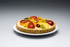 Grafico a torta della frutta fotografie stock