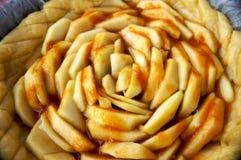 Grafico a torta della mela deliziosa fotografia stock libera da diritti