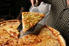 Grafico a torta della parte della pizza del pepe fotografia stock libera da diritti