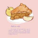 Grafico a torta di Apple Fotografie Stock Libere da Diritti