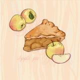 Grafico a torta di Apple Fotografie Stock