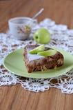 Grafico a torta di Apple con cannella Fotografia Stock