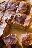 Grafico a torta di carne con riso Fotografie Stock Libere da Diritti