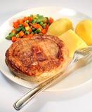 Grafico a torta di carne, patata, verdure    fotografie stock libere da diritti