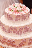 Grafico a torta di cerimonia nuziale Fotografia Stock