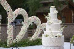 Grafico a torta 8 di cerimonia nuziale Fotografie Stock Libere da Diritti