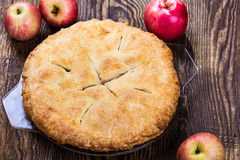 Grafico a torta di mela casalingo Fotografie Stock Libere da Diritti
