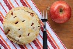 Grafico a torta di mela cotto Fotografia Stock Libera da Diritti