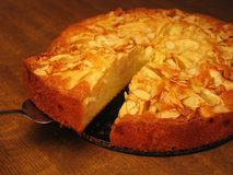 Grafico a torta di mela di ringraziamento Fotografia Stock