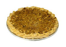 Grafico a torta di mela superiore della briciola Fotografia Stock