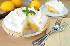 Grafico a torta di meringa di limone Fotografia Stock Libera da Diritti