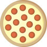 Grafico a torta di pizza fotografia stock
