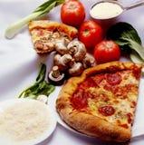 Grafico a torta di pizza fotografia stock libera da diritti