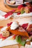Grafico a torta di zucca Fotografia Stock