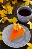 Grafico a torta di zucca Fotografia Stock Libera da Diritti
