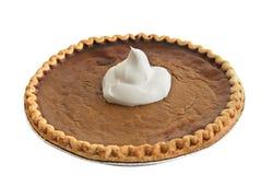 Grafico a torta di zucca - crema della frusta fotografie stock libere da diritti