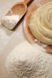 Grafico a torta e farina Fotografie Stock Libere da Diritti