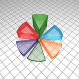 Grafico a torta finanziario Fotografie Stock